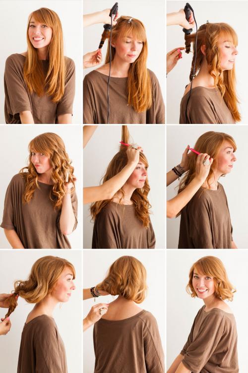 Как сделать видимость длинных волос, как коротких? Короткие волосы без стрижки: узнай, как!