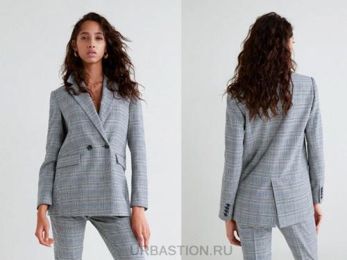 С чем носить серый пиджак девушкам. Модели серых пиджаков для женщин на фото