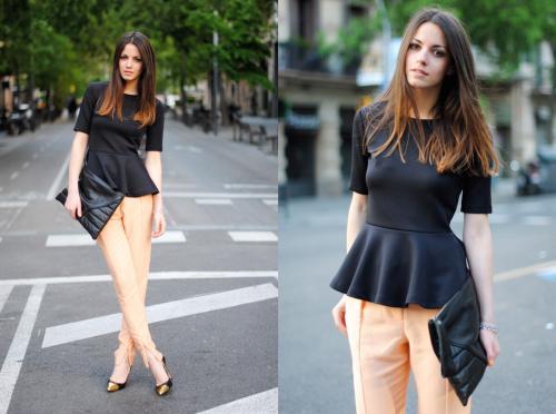 Блузка с баской белая. С чем носить блузку с баской?