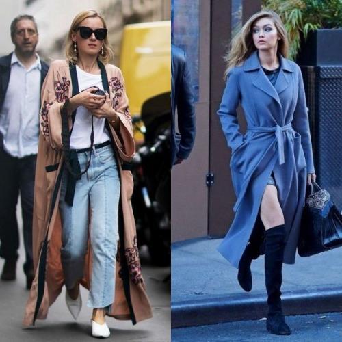Серое пальто-халат с чем носить. Стильное пальто-халат: цвета модные в 2020 году и фото моделей