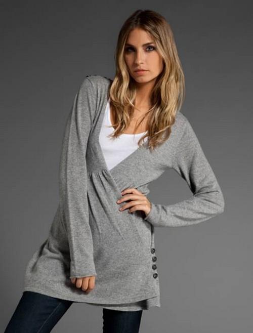 Серый женский джемпер с чем носить. Образы с серым свитером на каждый день