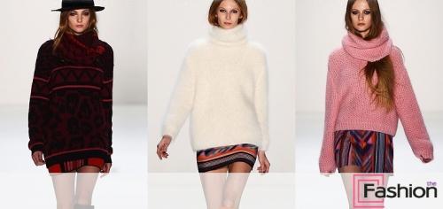 Свитера с чем носить. Цветные свитера – трендовые луки сезона
