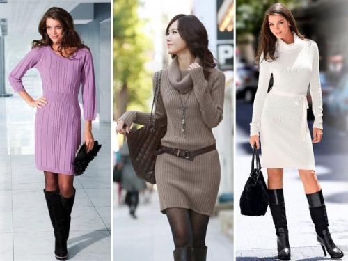 Шерстяное платье с чем носить. Как носить платья из шерсти