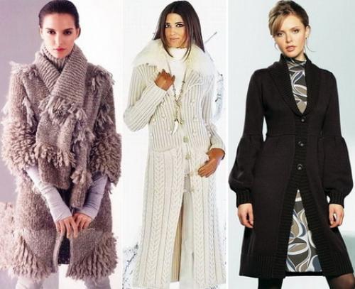 С чем носить вязаное пальто. Путь вязаного пальто на подиум