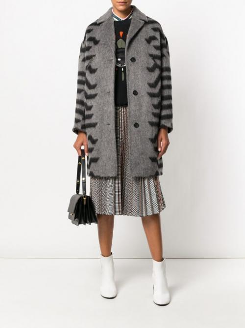 Модное серое пальто 2019. Модное пальто в стиле «Оверсайз» 2019 2020 фото