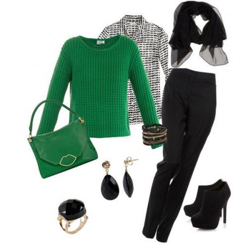 Джемпер зеленый с чем носить. Магия зелёного: составляем стильные образы с зелёным свитером