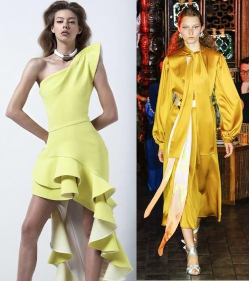 Платья на Новый год желтые. Цвет платья на Новый год 2019 — год Желтой Земляной Свиньи (Кабана)