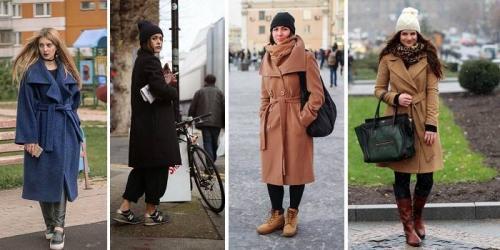 С чем носить длинное пальто-халат. С чем носить пальто-халат