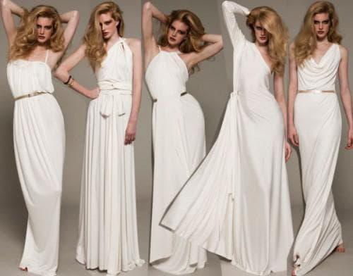 Платья в греческом стиле на выпускной. Длинные наряды