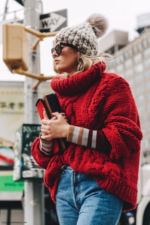 Джемпер красный с чем носить. Модный красный свитер: 5 трендовых идей, как носить зимой