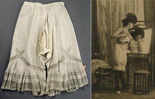 Женщина в белых панталонах. Дамское нижнее бельё: «аморальные» батистовые панталоны
