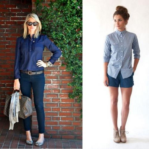 Женская темно синяя рубашка. Очаровательные темно-синие рубашки и модели с белым цветом на фото: разнообразие расцветок