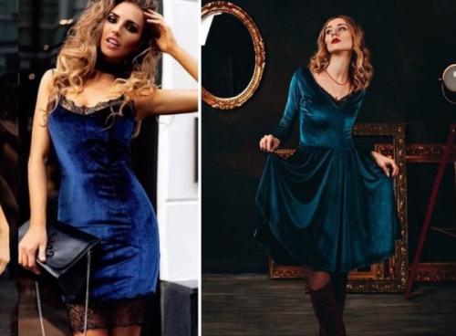 Велюровое платье с кружевом. С чем носить велюровое платье – подбираем образы на все случаи жизни