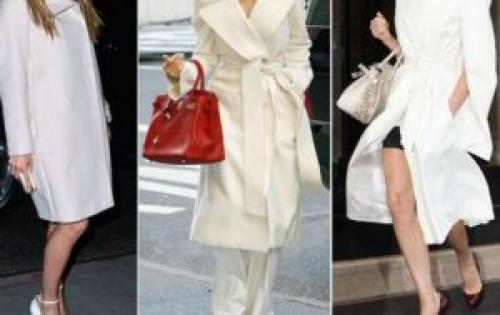 С чем носить белое короткое пальто. С чем носить белое пальто