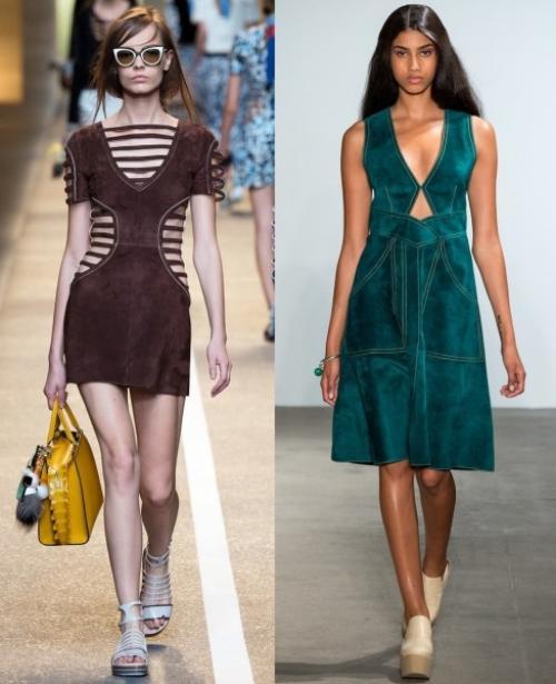 Платье из замши. С чем носить замшевое платье?