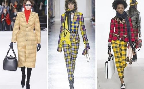 Модные платья в клетку 2019. Модная клетка 2019