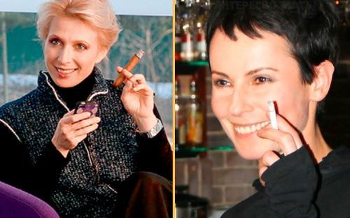 Кто из знаменитостей курит. Российские актрисы, которые никак не могут бросить курить