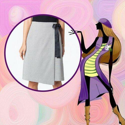 Юбка полусолнце с запахом. Простой рецепт юбки с запахом! Как сшить быстро. Несколько моделей.