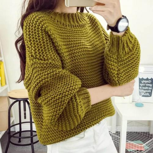 Связать свитер спицами крупной вязкой. Вязание свитера спицами