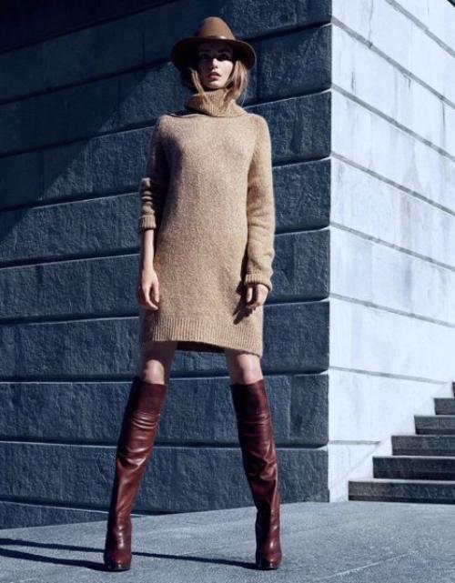 Платья из тонкой шерсти. С чем и куда носить шерстяное платье?