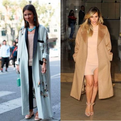 Длинное пальто халат с чем носить. Модели пальто-халатов 2019: модные изделия на фото