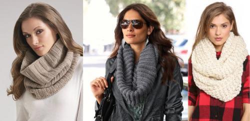 Как завязать легкий шарф-хомут. Как правильно носить шарф хомут и как красиво его завязать