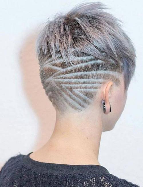 Рисунки на голове для девушек. Выбритые рисунки на голове: 9 оригинальных причёсок для смелых девушек
