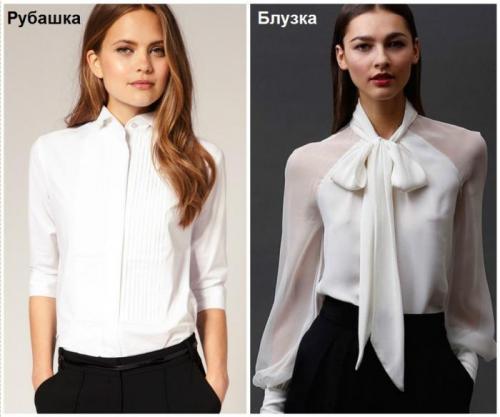 Блузка или рубашка отличие. Отличия блузки от рубашки