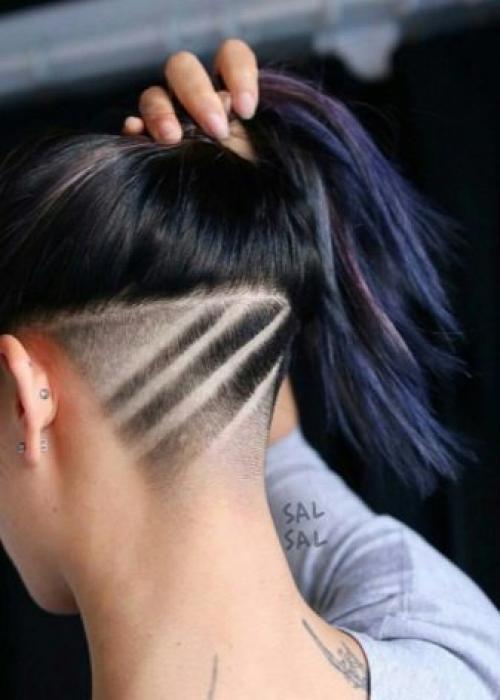 Рисунки на голове для девушек. Выбритые рисунки на голове: 9 оригинальных причёсок для смелых девушек 20