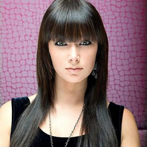 Прямые волосы с прямой челкой выше бровей. Разновидности челок