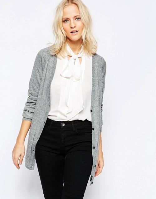 Кардиган серый с чем носить. Трендовые образы этого сезона