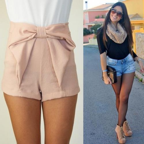 Шорты с завышенной талией с чем носить. Красивые женские шорты с высокой талией 2019 года: короткие и длинные модели на фото