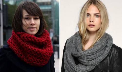 Как завязать легкий шарф-хомут. Как носить шарф-хомут – простые и эффектные образы